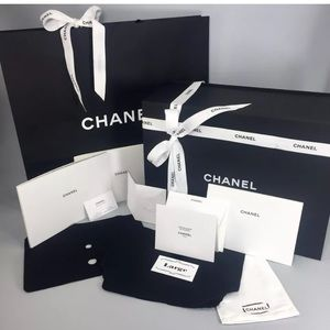 Chanel Magnetic Purse Box Empty Gift Set ~ Large